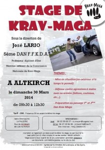 Stages Krav Maga dans la grande région Self Defense training